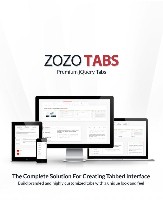 ZOZO TI5 PreniumjQuery den kompletta lösningen för att skapa flikar Interface Build märkesvaror och specialanpassade flikar med unikt utseende och känsla
