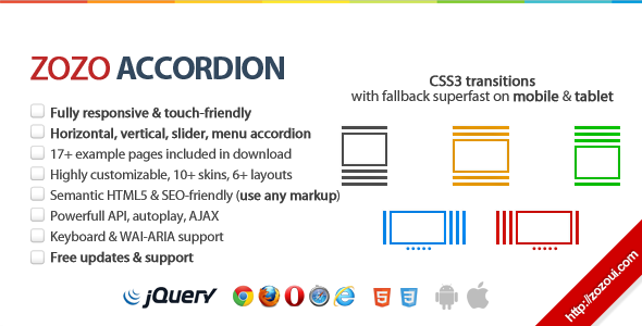 Zozo Accordion - jQuery Accordion Plugin